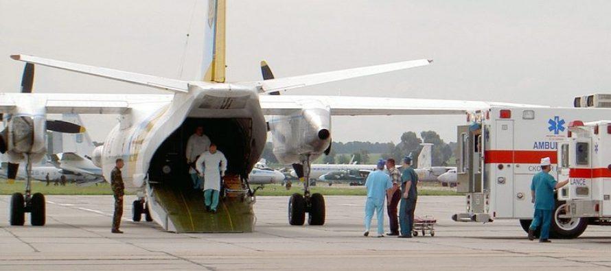 До Львова прибув літак із пораненими військовими