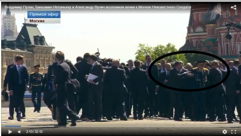 Охорона Путіна відштовхнула ветерана напараді вМоскві (відео)