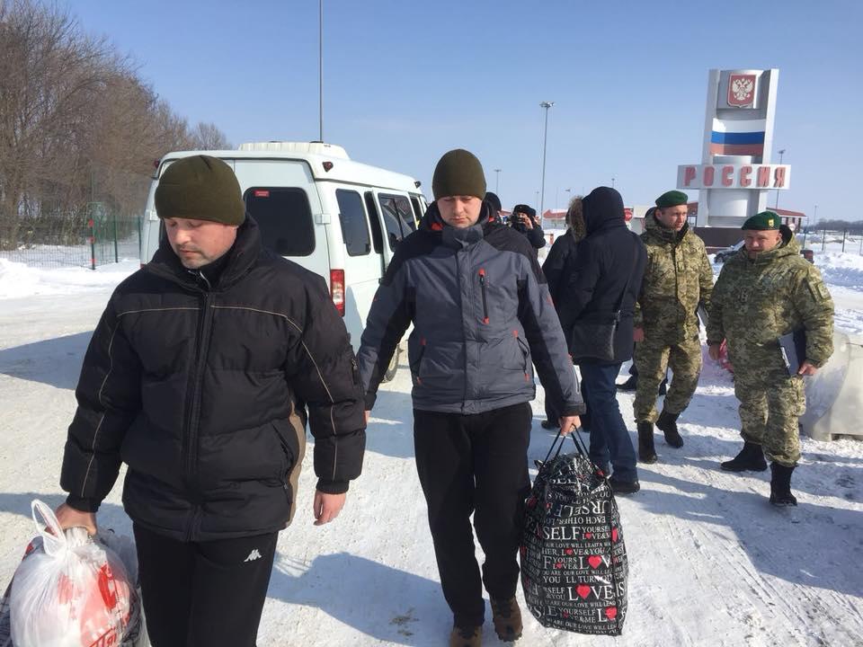 Росія повернула викрадених прикордонників