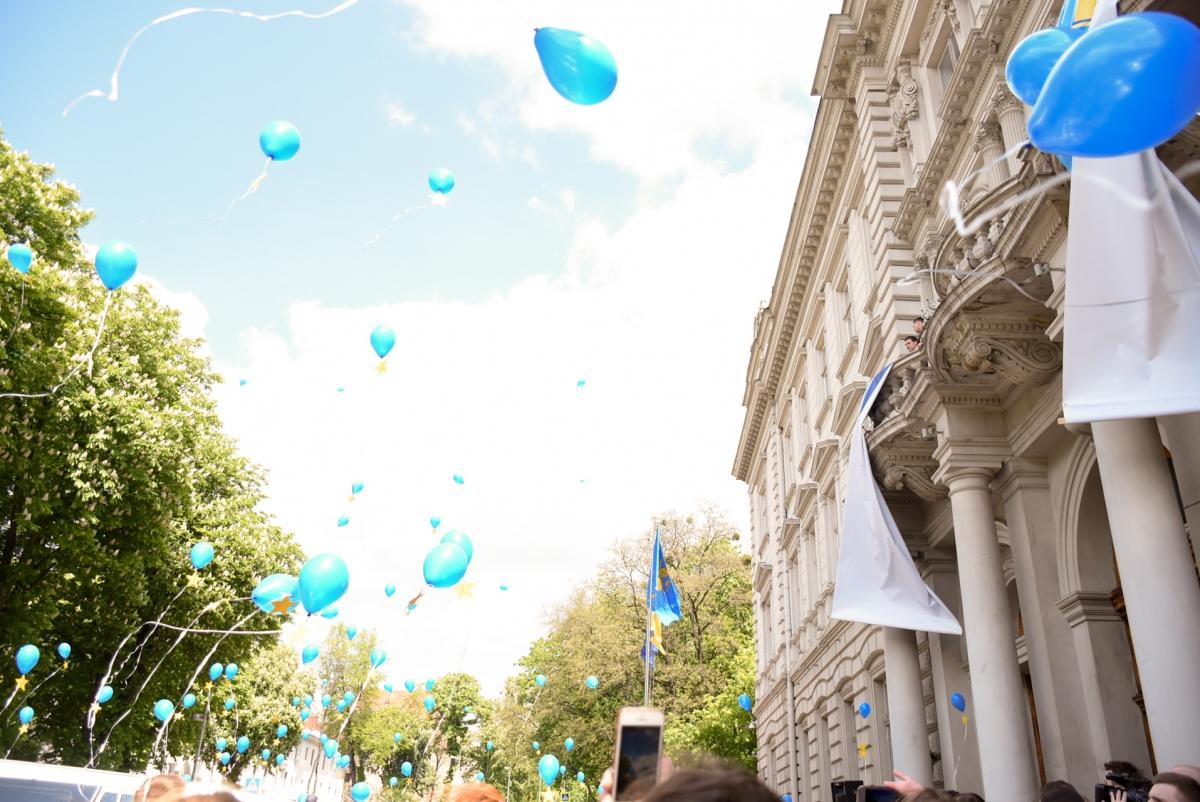 Фотофакт: у Львові святкують безвіз фото