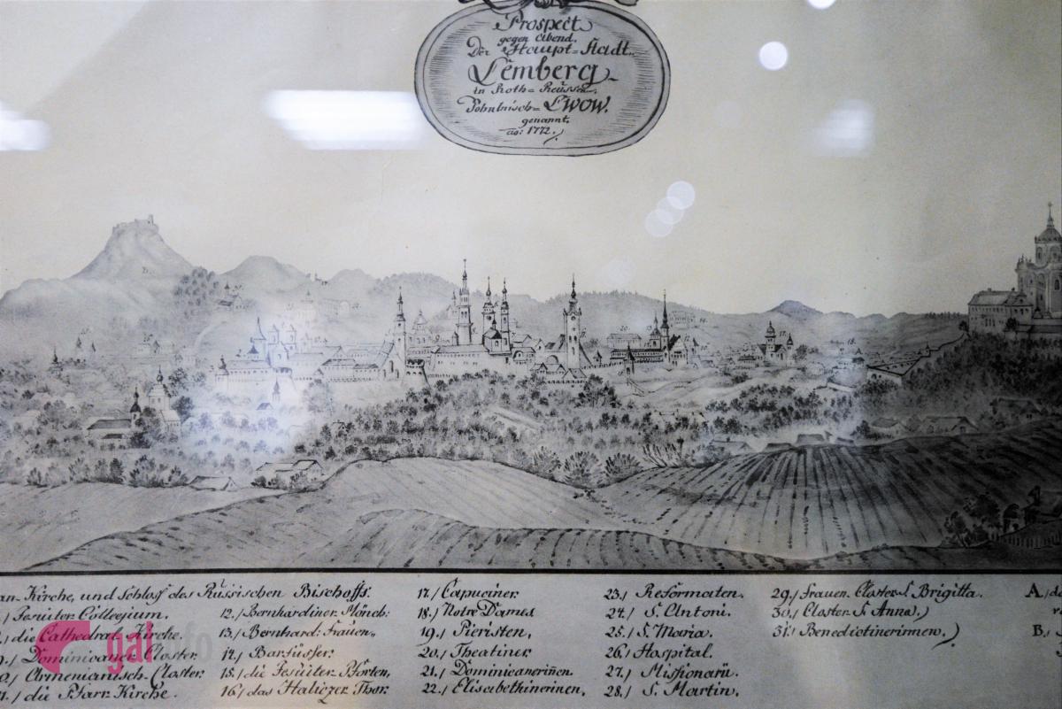 Вид Львова 1772 р. Виставка