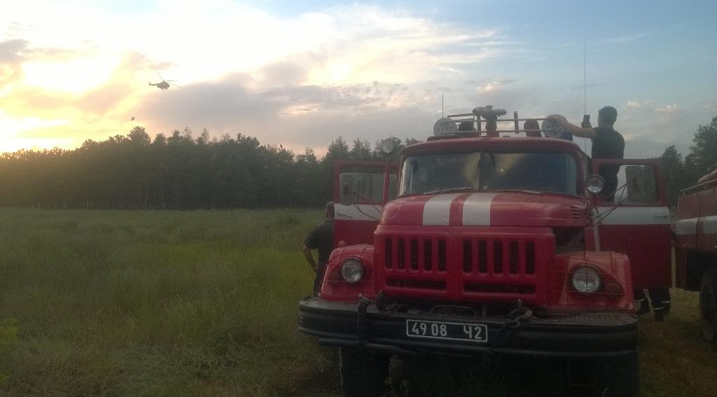 Масштабна лісова пожежа, 40 гектарів лісу горить наХерсонщині