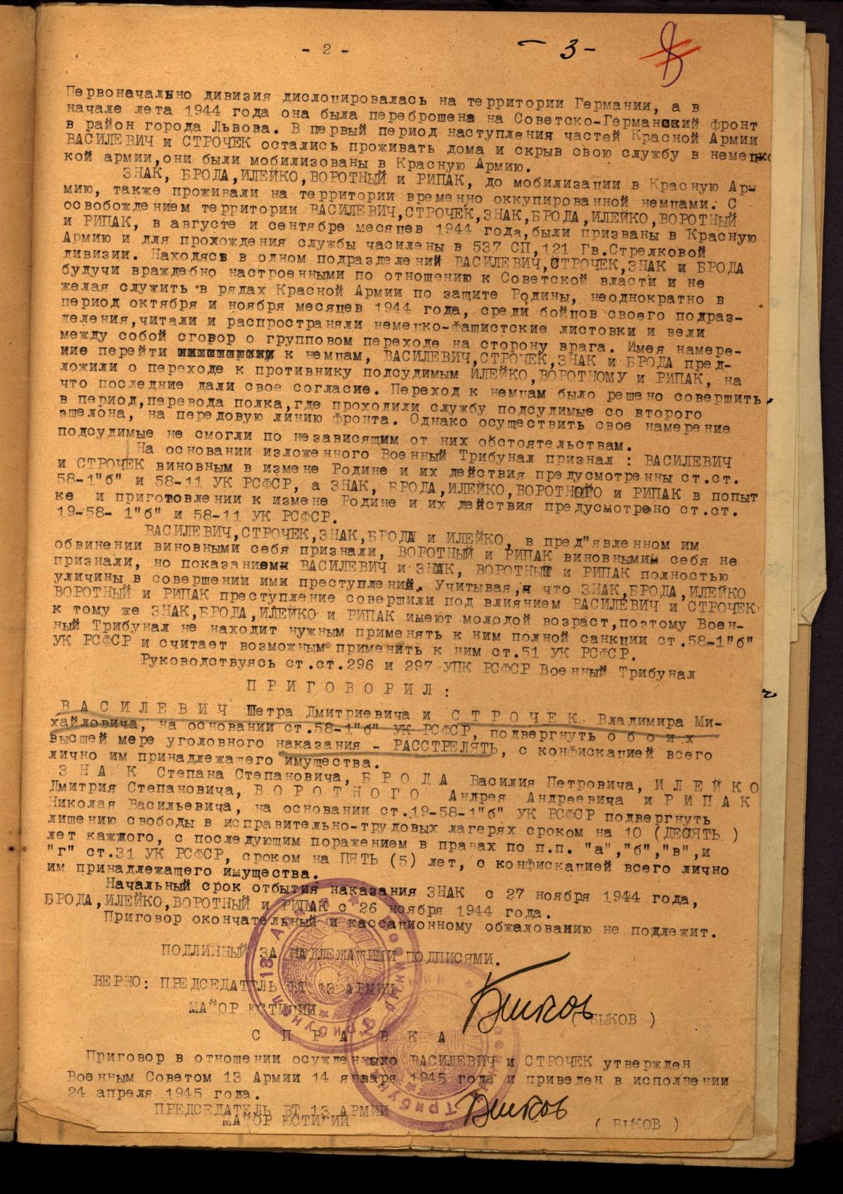 Справа від 1945 року.