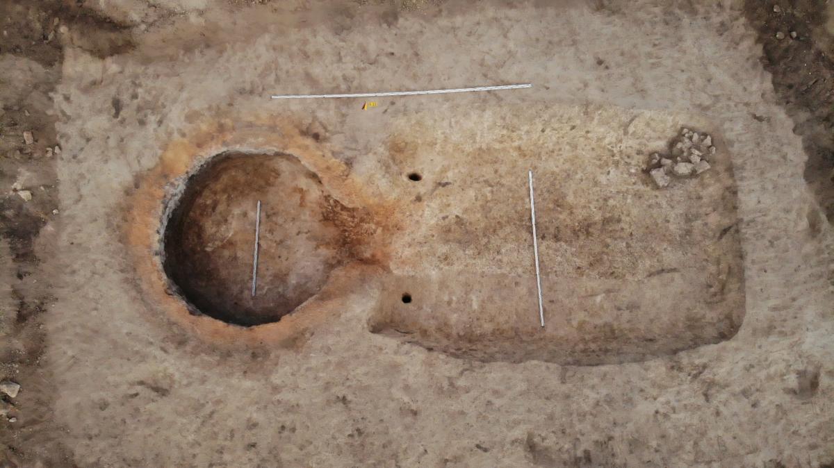 Піч з допоміжною спорудою для виварювання селітри (XVII ст). Фото - РАС.