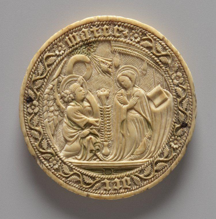 Корпус люстерка зі слонової кістки, Благовіщення, XV ст., Британський музей, Лондон. Фото - Symbolon.