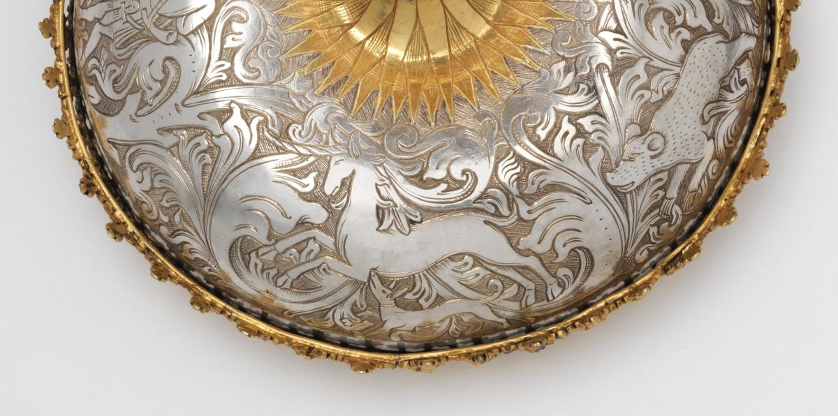 Кришка від стакана, робота Ганса Грейффа, бл.1470-і рр. Баварія, Німеччина. Музей мистецтва Метрополітен. Фото - Symbolon.