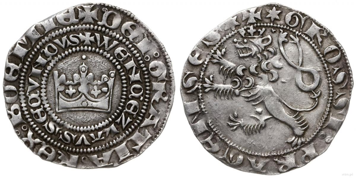 Срібний празький грош чеського короля Вацлава ІІ (1283 – 1305), емісія 1300-1305 рр. Кутна Гора; 3,5-3-7 г; частка срібла в сплаві: 92,2 – 93,3 % Фото - Symbolon.