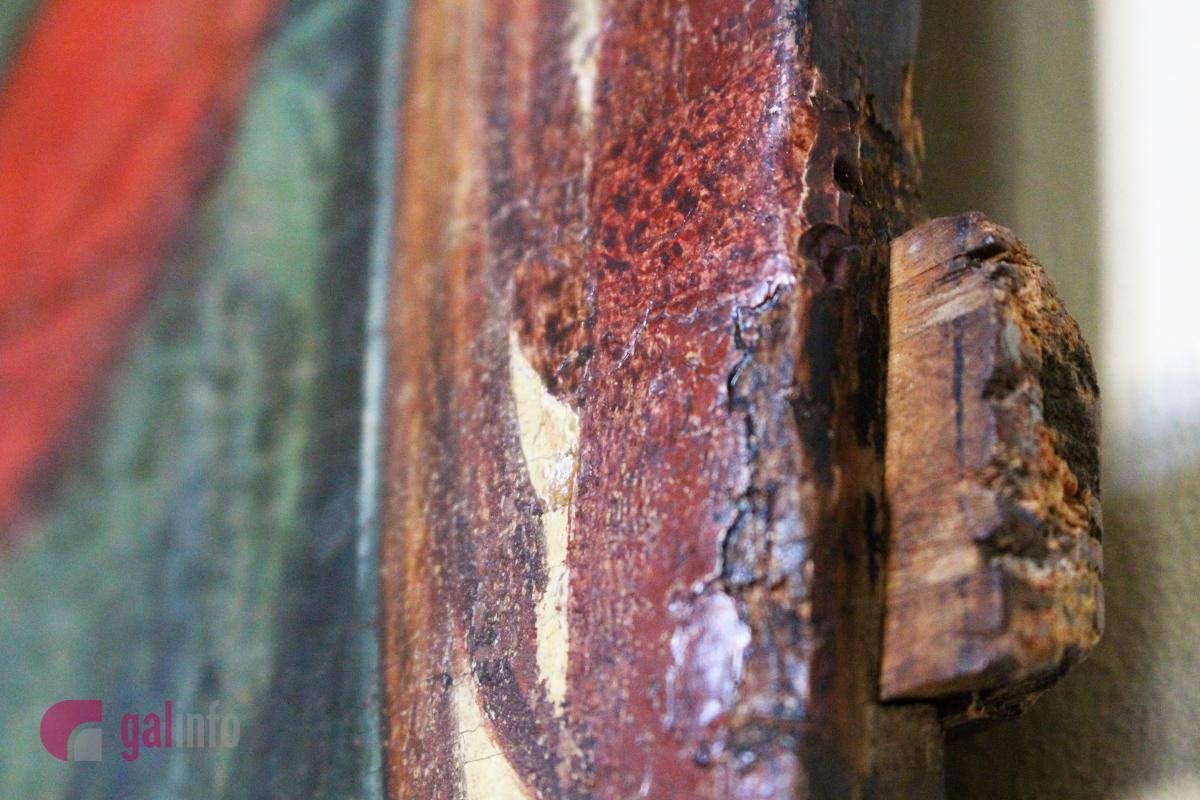 Старозавітня Трійця. Початок ХVІ ст. Походження невідоме. Дошка липова і соснова, левкас, темпера, гравіювання, золочення. Фото: Олена Ляхович, Гал-інфо